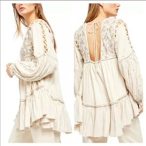 Free people tunic with embroidery